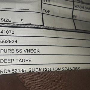 GAP Tops - ** Gap Pure Short Sleeve V-Neck T-Shirt Deep Taupe